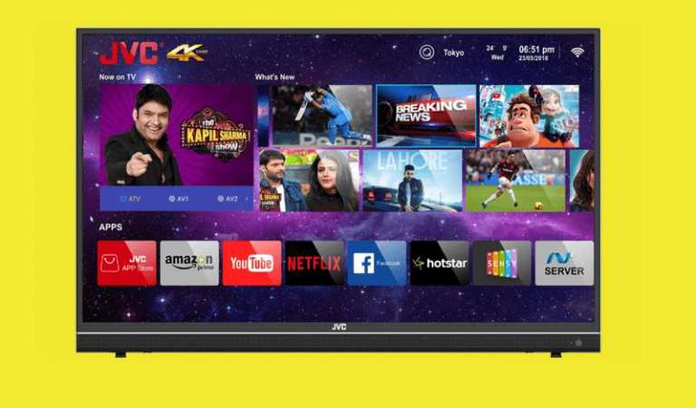 JVC launches 43-inch 4K smart LED TV; 500 apps will be able to install, cost ₹24,999
