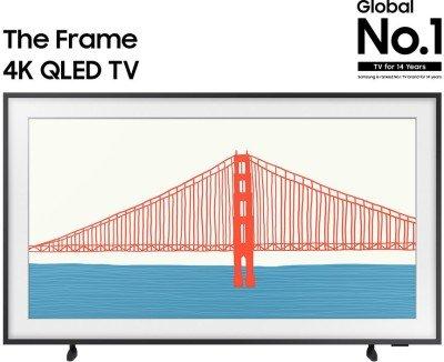 SAMSUNG The Frame 2021 Series 163 cm (65 inch) QLED Ultra HD (4K) Smart TV(QA65LS03AAKLXL)